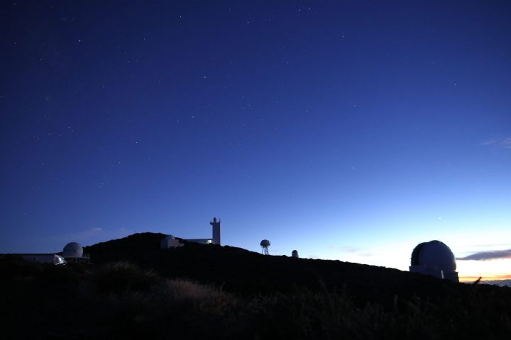 """View of the Observatory at sunset, La Palma"""", alt=""""View of the Observatory at sunset with, La Palma"""