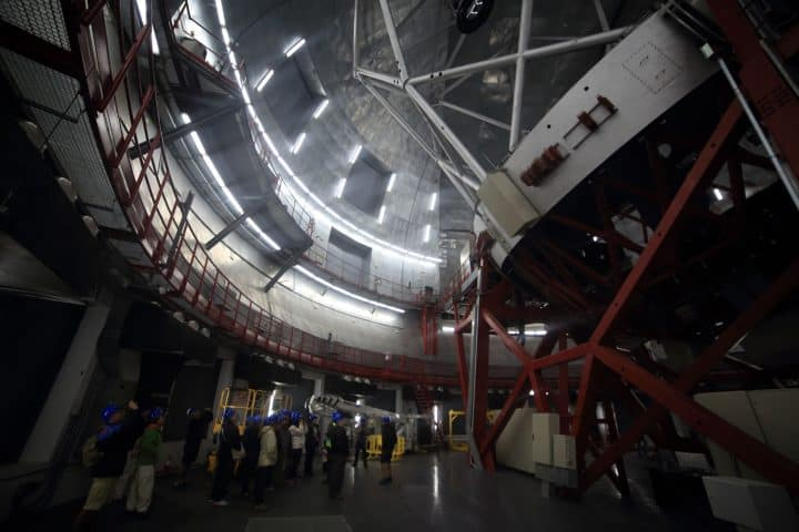 Visiting the building of the Gran Telescopio de Canarias and viewing of the telescope