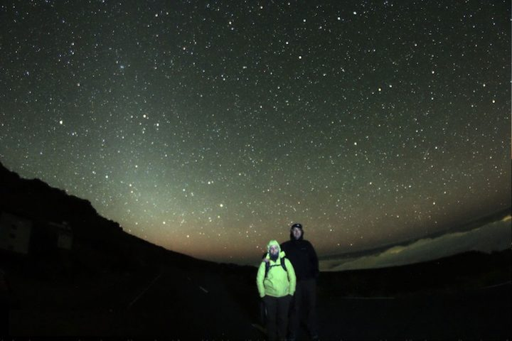 Night sky in one of our astronomy safari tours