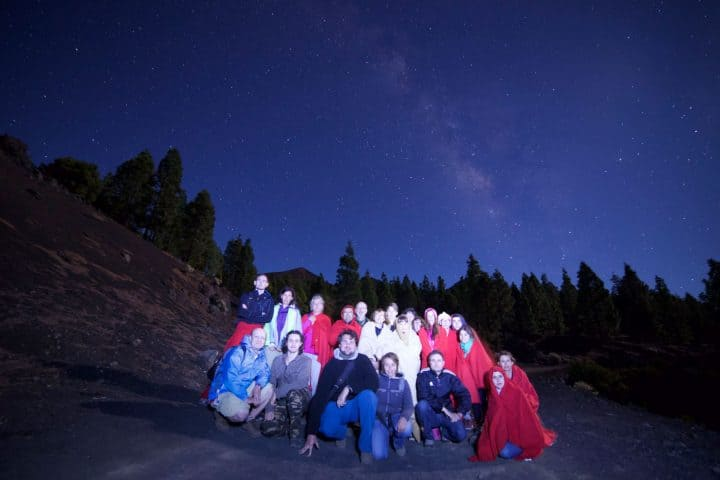 Group picture in one of our astronomy safari tours
