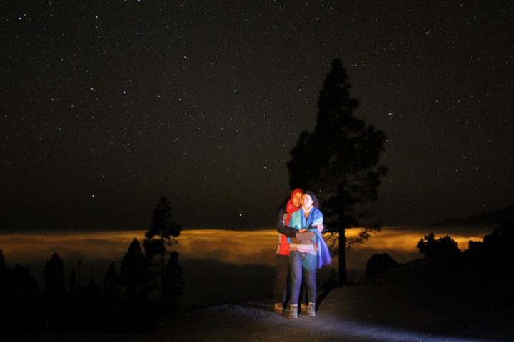 Romantic night under the stars, La Palma