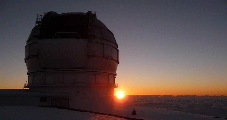 Gran Telescopio de Canarias a la puesta de sol | Foto: Ana García, lapalmastars.com