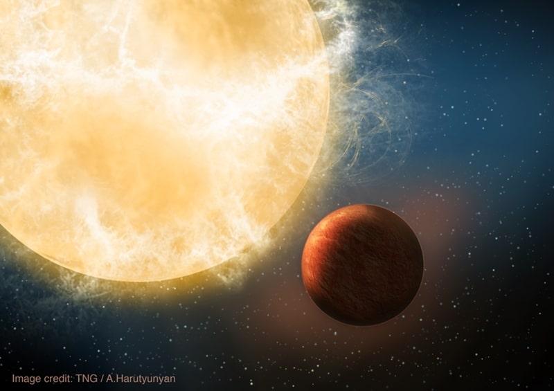 Kepler 78b: primer planeta descubierto por HARPS-N en el TNG.