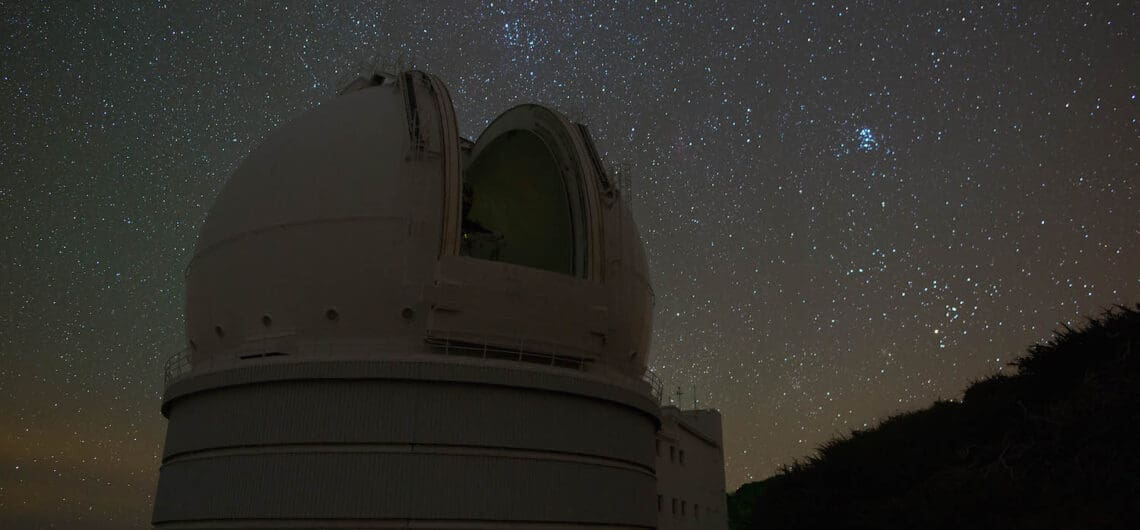 Willam Herschel Telescope at the Observatory Roque de Los Muchachos in La Palma