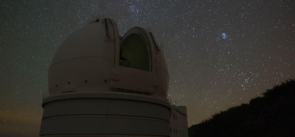 Willam Herschel Telescope at the Observatory Roque de Los Muchachos in La Palma