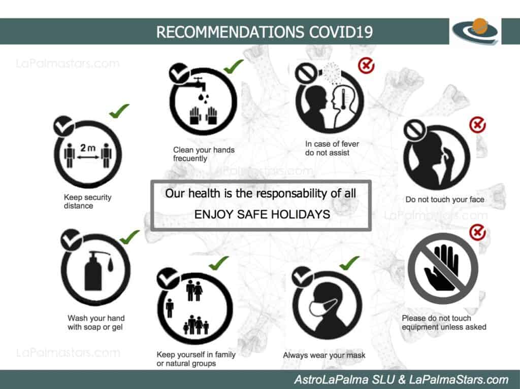 Infography of recomendations on covid19