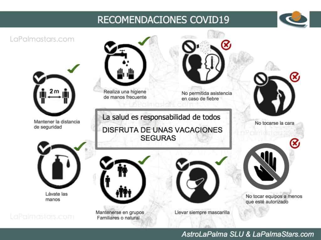 Infografía de recomendaciones sobre covid19