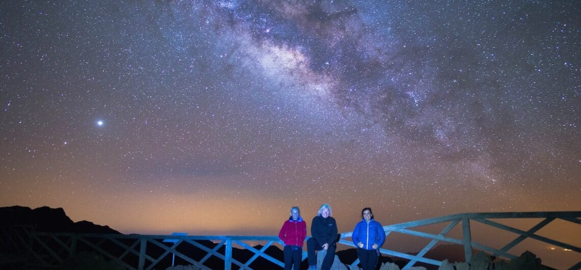 Milky Way from Andenes viewpoint La Palma