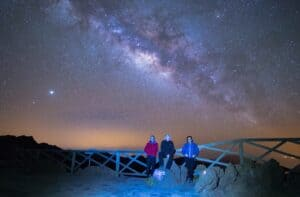Milky Way and LaPalmastars team from Andenes viewpoint La Palma