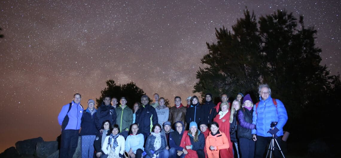 Group photo during a stargazing tour..with shooting stars