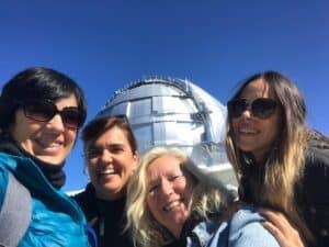 Equipo LaPalmaStars visitando el Gran Telescopio de Canarias