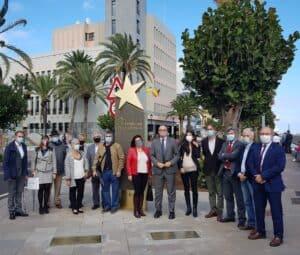Personalidades invitadas a la inauguración del Paseo de las Estrellas de la Ciencia de La Palma