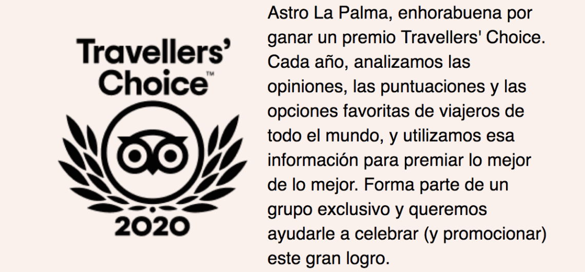 Travellers' Choice 2020 en Tripadvisor