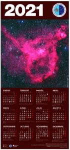 Caledario anual del Instituto de Astrofísico de Canarias 2021