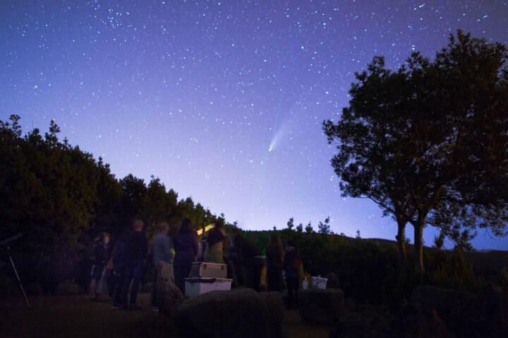 Avistamiento del Cometa Neowise, observación de estrellas, La Palma