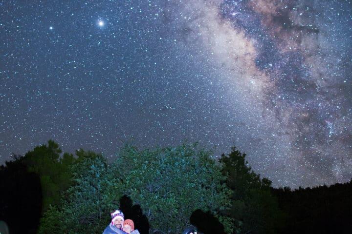 Milchstraße und spektakulärer Sternenhimmel von La Palma, Sternenbeobachtung, private Gruppen