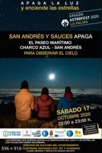 Cartel apagón La Palma, Apaga la luz y disfruta de las estrellas