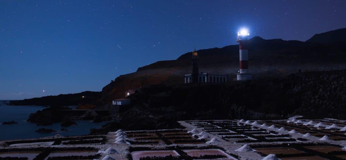 Sitio de interés astronómico. Faro y Salinas de Fuencaliente, La Palma