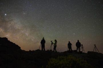 Fotografía de paisajes nocturnos, La Palma