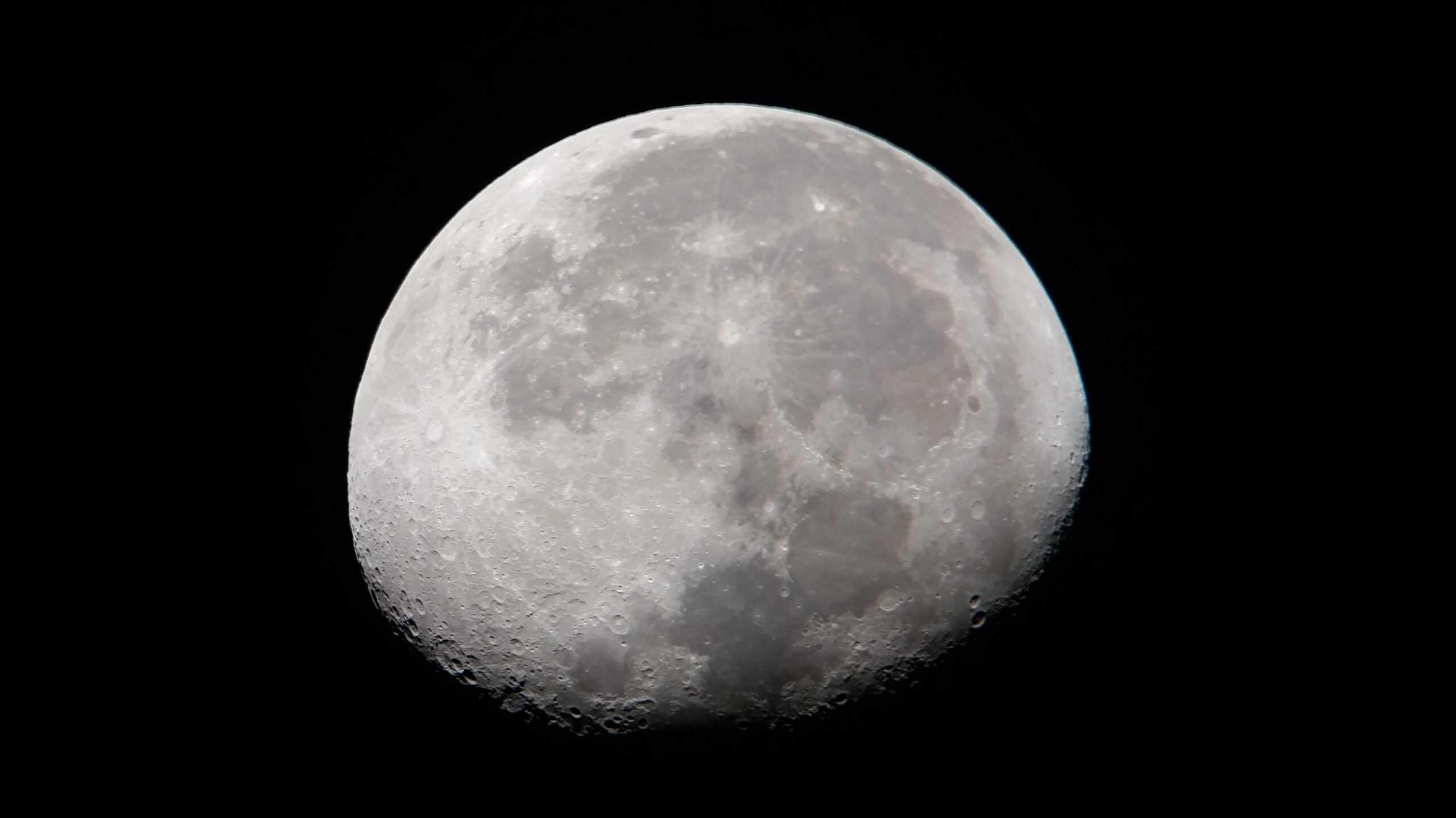Luna Creciente vista desde La Palma