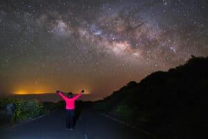Landscape night photography near Roque de Los Muchachos in La Palma