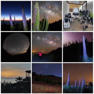 Landscape night photography made in La Palma