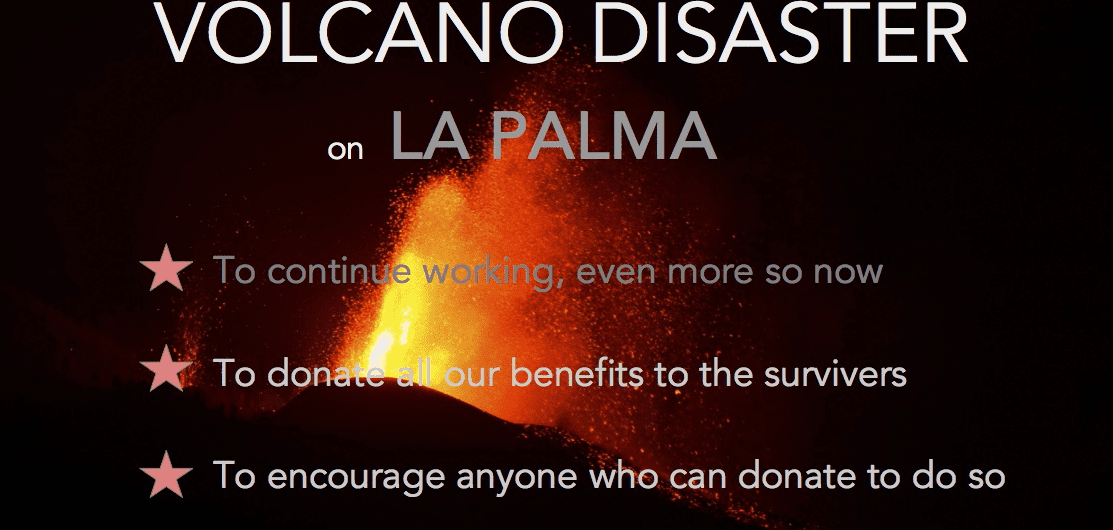 Volcano eruption La Palma